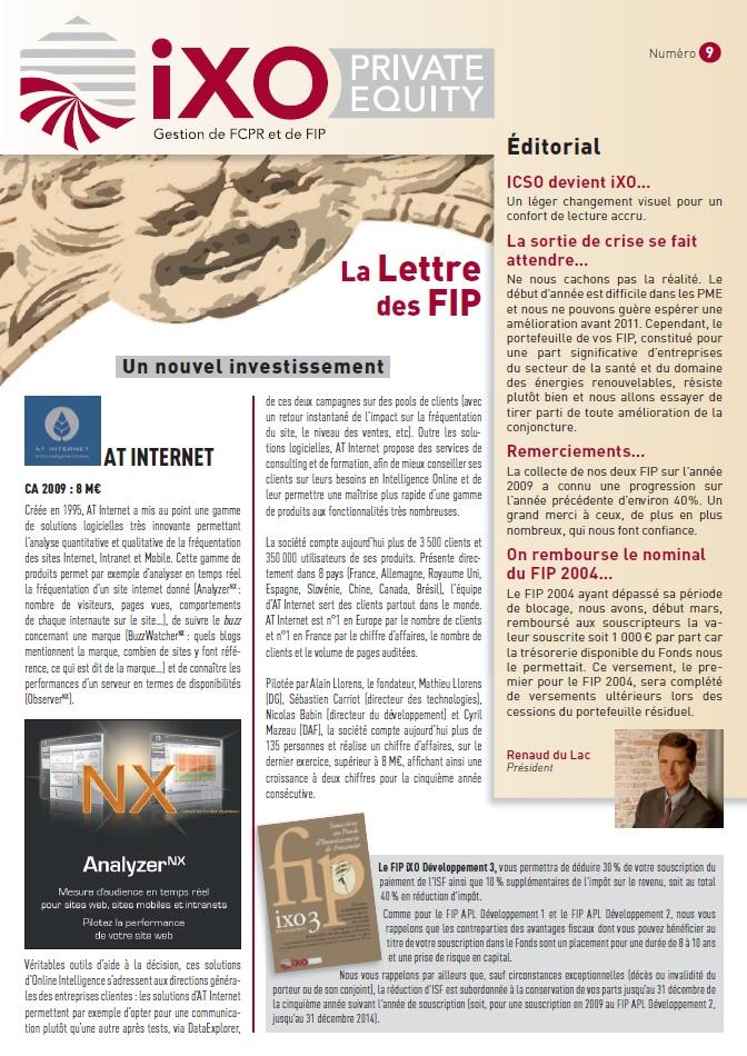 Lettre FIP iXO n°9