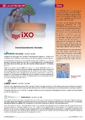 Lettre FIP iXO n°25