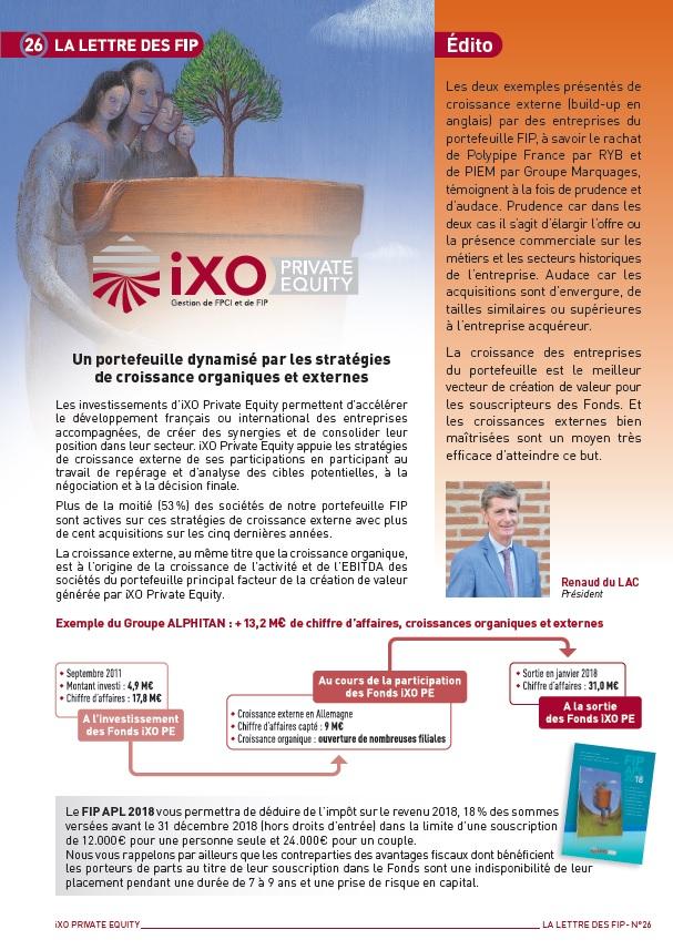 Lettre FIP iXO n°26